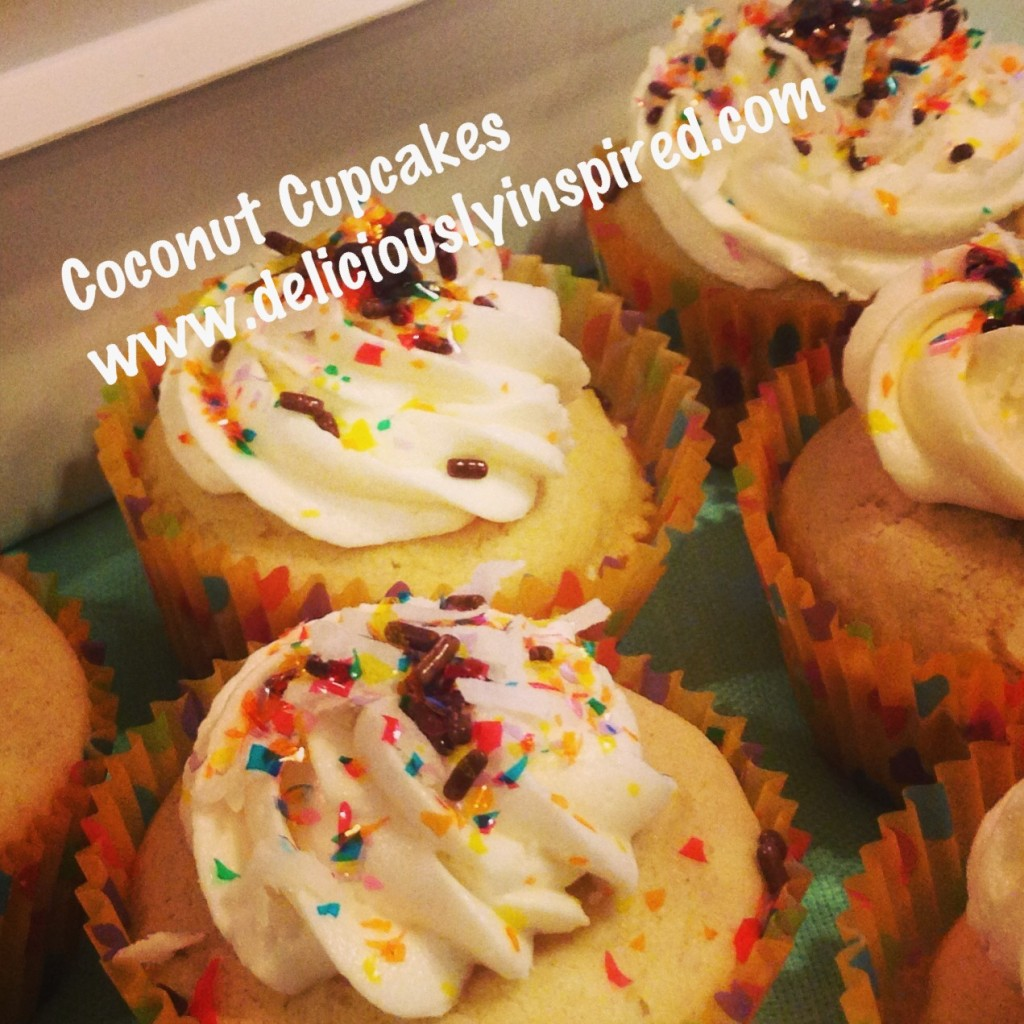 Coconut Cupcakes with website