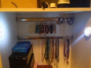 Jewelry Organization - Bracelets and Necklaces