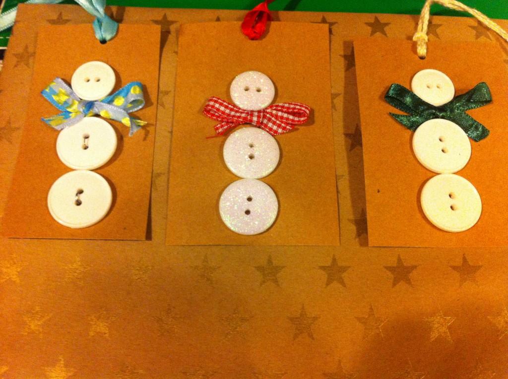Snowmen Button Tags