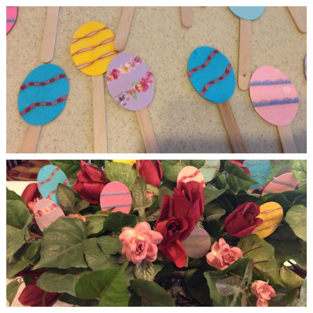Easter Egg Plant Sticks