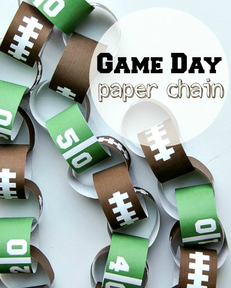 game-day-paper-chain